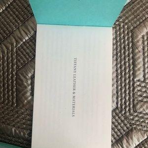 Tiffany & Co. Bags - Brand New Tiffany Leather Half Moon Wallet